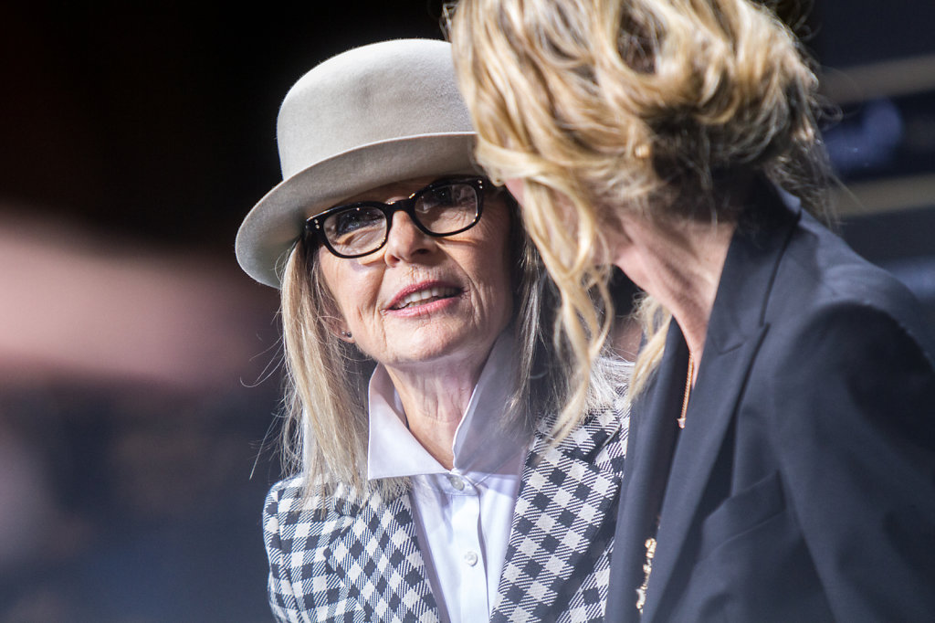 Diane Keaton at the green carpet at festival in Zuerich