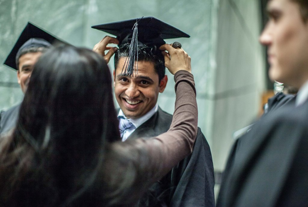 portrait of graduate in Germany