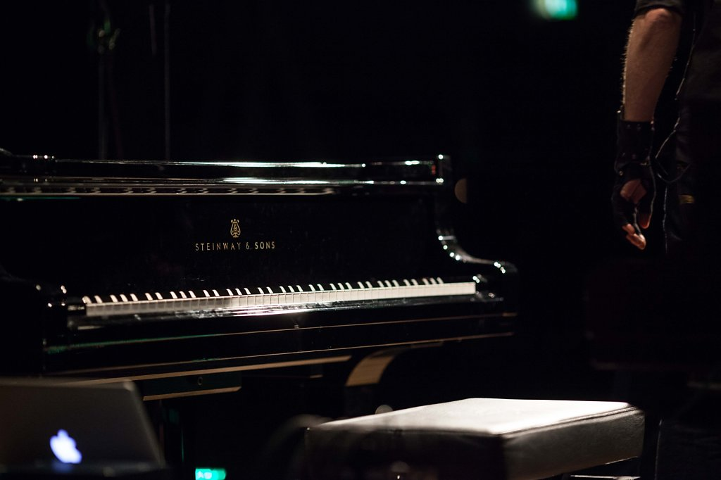 piano waiting for concert ZKM in Karlsruhe